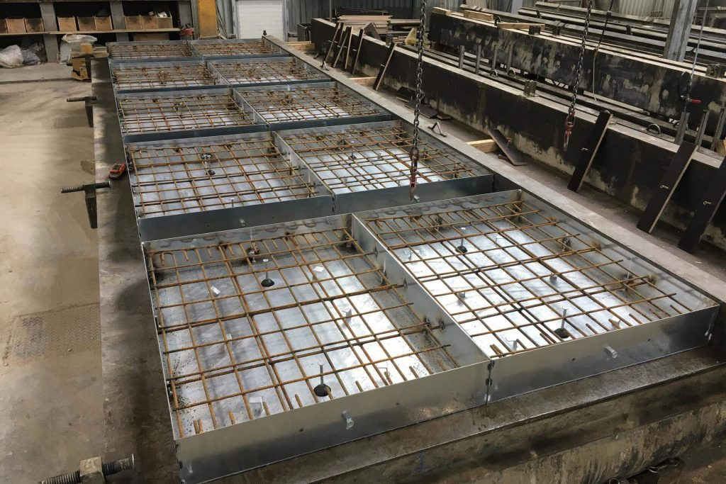 fabrication couvercle béton galva